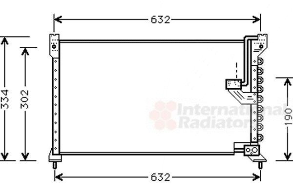 Condenseur, climatisation - VAN WEZEL - 25005085