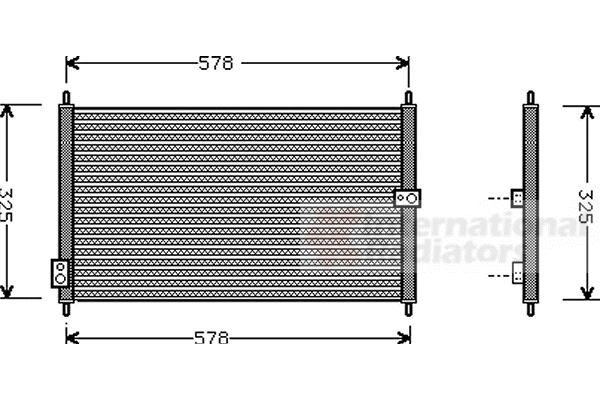 Condenseur, climatisation - VAN WEZEL - 25005086