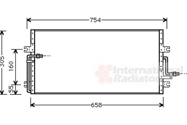 Condenseur, climatisation - VAN WEZEL - 25005087