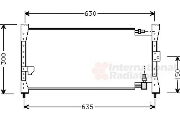 Condenseur, climatisation - VAN WEZEL - 25005088
