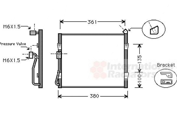 Condenseur, climatisation - VAN WEZEL - 25005089