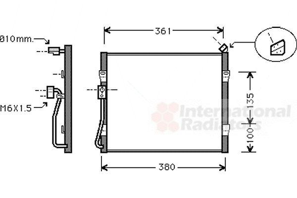 Condenseur, climatisation - VAN WEZEL - 25005090