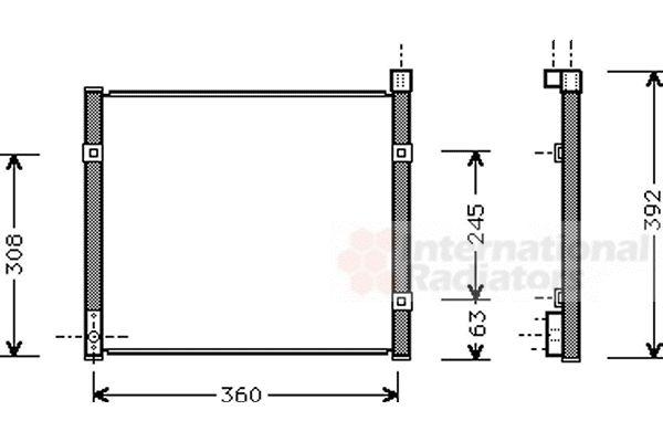 Condenseur, climatisation - VAN WEZEL - 25005095