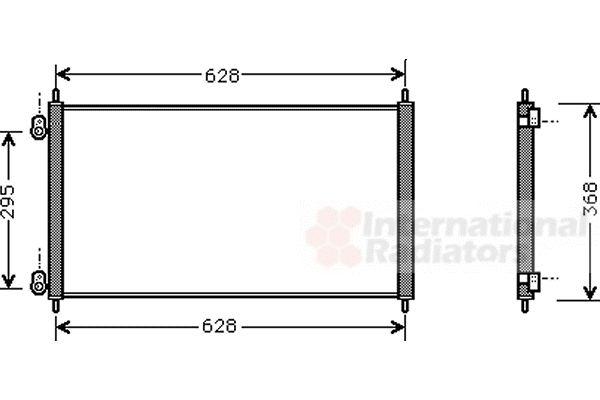 Condenseur, climatisation - VAN WEZEL - 25005106