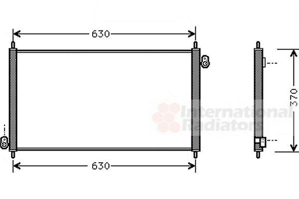 Condenseur, climatisation - VAN WEZEL - 25005107