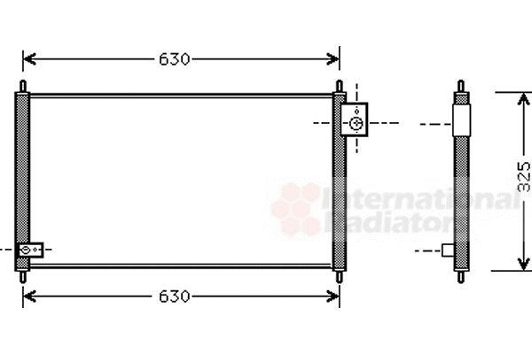 Condenseur, climatisation - VAN WEZEL - 25005111