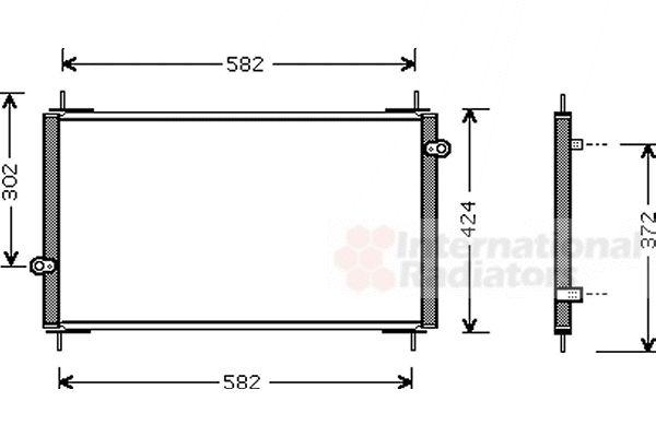 Condenseur, climatisation - VAN WEZEL - 25005112