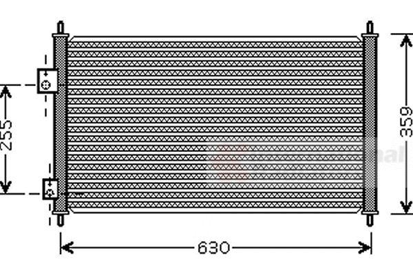 Condenseur, climatisation - VAN WEZEL - 25005165