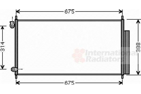 Condenseur, climatisation - VAN WEZEL - 25005185
