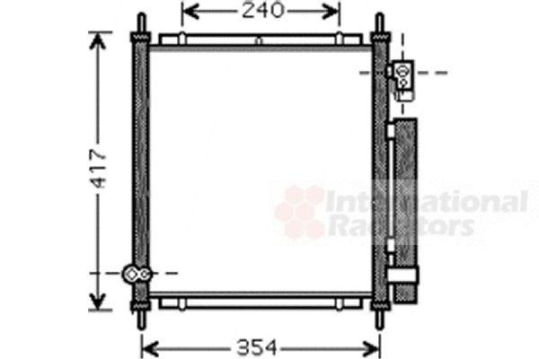 Condenseur, climatisation - VAN WEZEL - 25005197