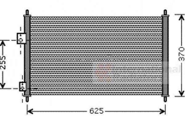 Condenseur, climatisation - VAN WEZEL - 25005202
