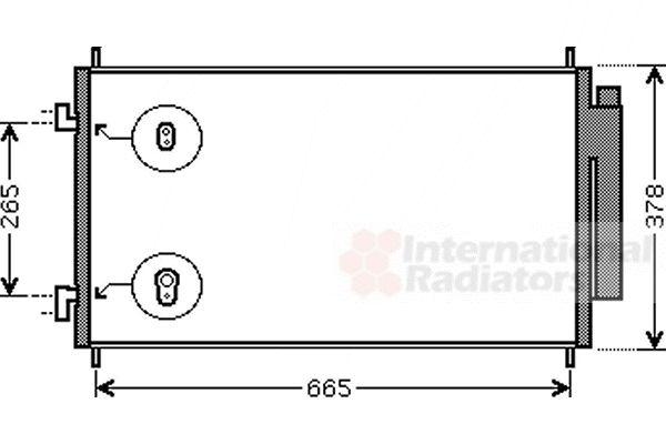 Condenseur, climatisation - VAN WEZEL - 25005214