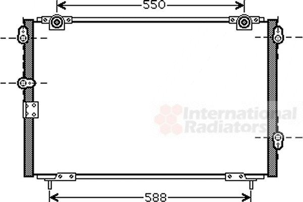 Condenseur, climatisation - VAN WEZEL - 25005221
