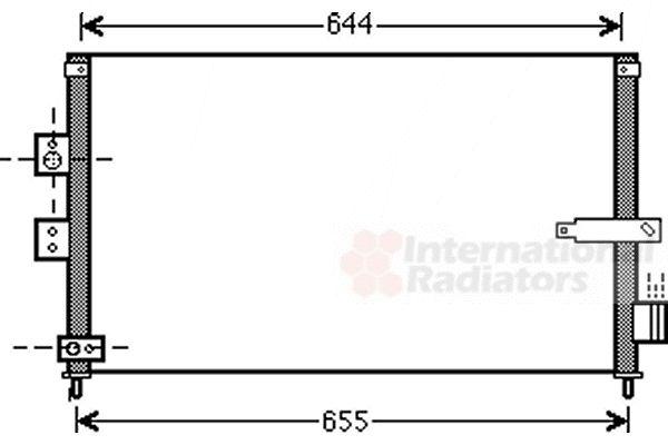 Condenseur, climatisation - VAN WEZEL - 25005223
