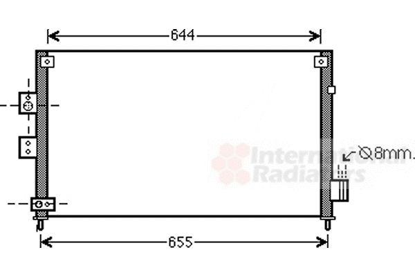 Condenseur, climatisation - VAN WEZEL - 25005227