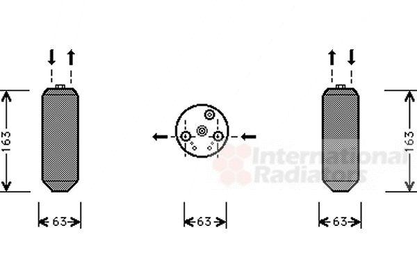 Filtre déshydratant, climatisation - VAN WEZEL - 2500D103