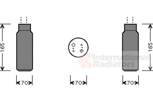 Filtre déshydratant, climatisation - VAN WEZEL - 2500D115