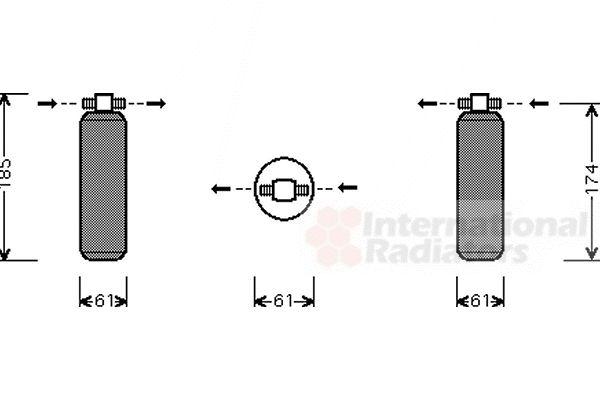 Filtre déshydratant, climatisation - VAN WEZEL - 2500D116