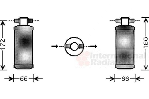 Filtre déshydratant, climatisation - VAN WEZEL - 2500D184