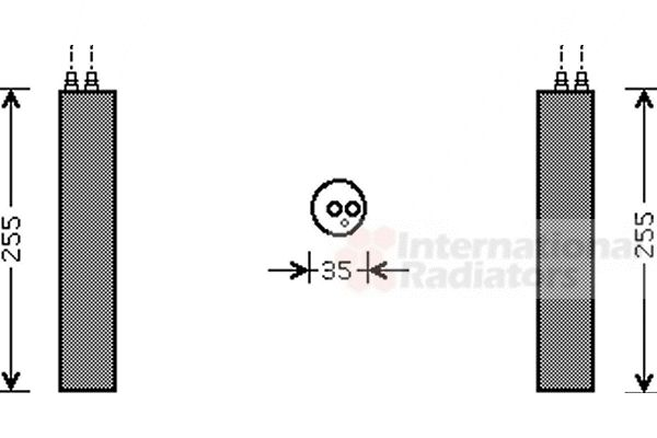 Filtre déshydratant, climatisation - VAN WEZEL - 2500D219