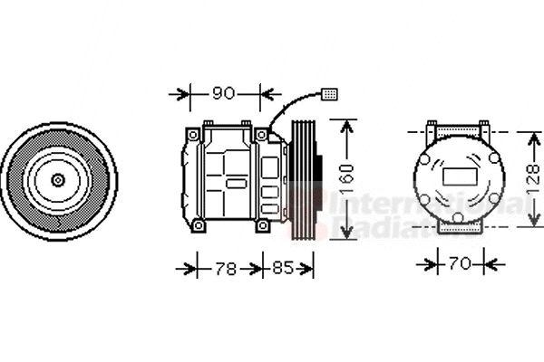 Compresseur, climatisation - VAN WEZEL - 2500K019
