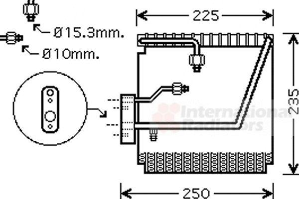 Evaporateur climatisation - VWA - 88VWA2500V198