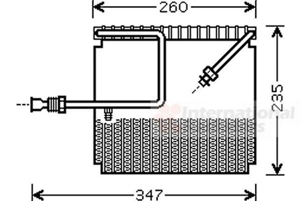 Evaporateur climatisation - VAN WEZEL - 2500V199