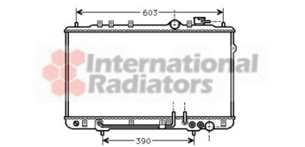 Radiateur, refroidissement du moteur - VAN WEZEL - 82002023