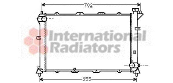 Radiateur, refroidissement du moteur - VAN WEZEL - 82002024