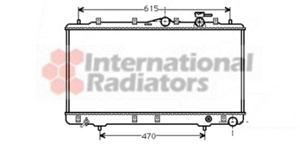Radiateur, refroidissement du moteur - VAN WEZEL - 82002026