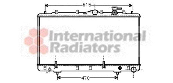 Radiateur, refroidissement du moteur - VAN WEZEL - 82002027