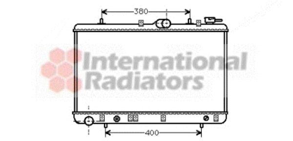 Radiateur, refroidissement du moteur - VAN WEZEL - 82002029