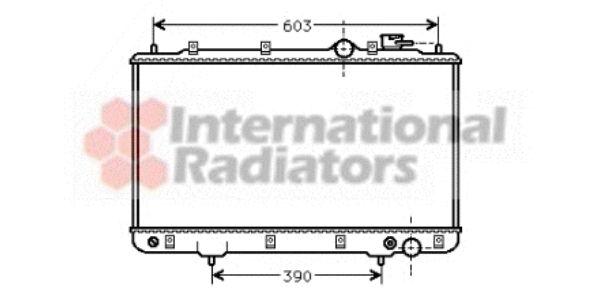 Radiateur, refroidissement du moteur - VAN WEZEL - 82002031