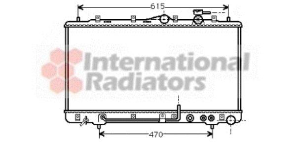 Radiateur, refroidissement du moteur - VAN WEZEL - 82002033