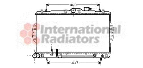 Radiateur, refroidissement du moteur - VAN WEZEL - 82002034