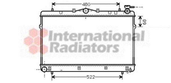 Radiateur, refroidissement du moteur - VAN WEZEL - 82002043