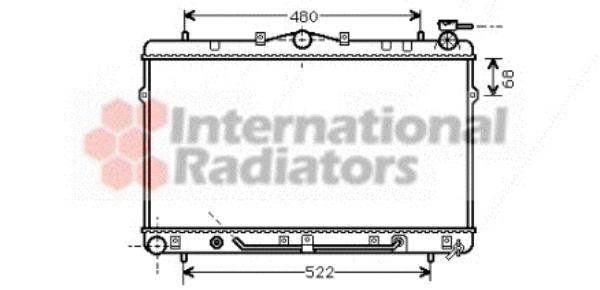 Radiateur, refroidissement du moteur - VAN WEZEL - 82002044