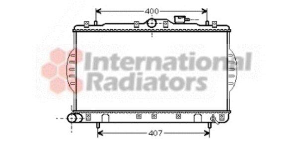 Radiateur, refroidissement du moteur - VAN WEZEL - 82002047