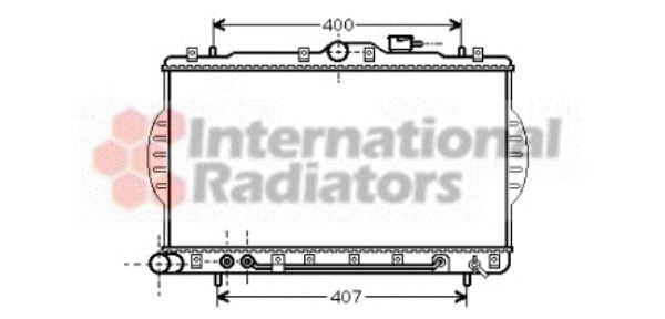Radiateur, refroidissement du moteur - VAN WEZEL - 82002048