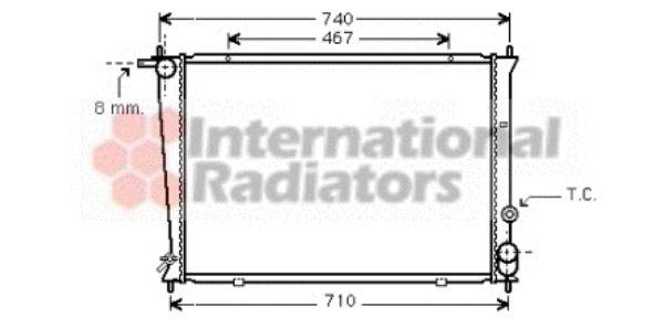Radiateur, refroidissement du moteur - VAN WEZEL - 82002049