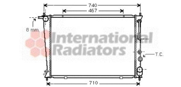 Radiateur, refroidissement du moteur - VWA - 88VWA82002050