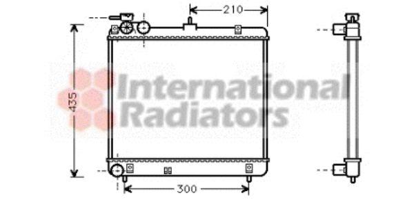 Radiateur, refroidissement du moteur - VAN WEZEL - 82002051