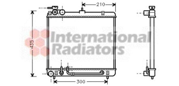 Radiateur, refroidissement du moteur - VAN WEZEL - 82002052