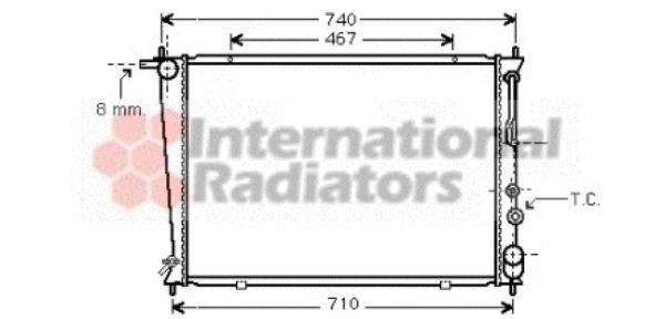 Radiateur, refroidissement du moteur - VAN WEZEL - 82002054