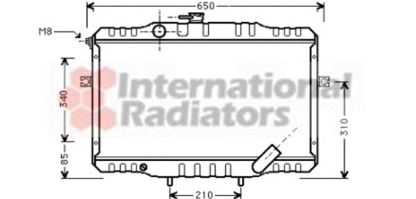 Radiateur, refroidissement du moteur - VAN WEZEL - 82002068
