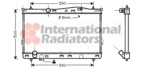 Radiateur, refroidissement du moteur - VAN WEZEL - 82002077
