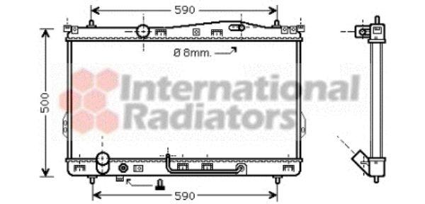 Radiateur, refroidissement du moteur - VAN WEZEL - 82002078