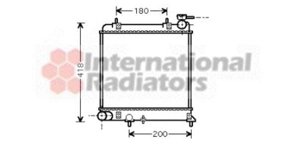 Radiateur, refroidissement du moteur - VAN WEZEL - 82002085