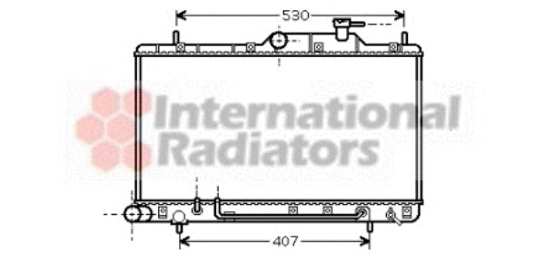 Radiateur, refroidissement du moteur - VAN WEZEL - 82002086