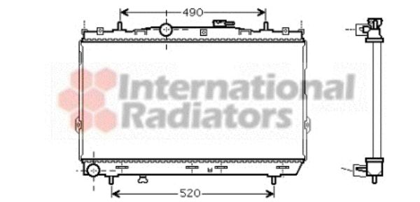 Radiateur, refroidissement du moteur - VAN WEZEL - 82002095